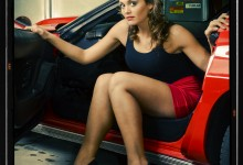 Corvette shop pinup shoot