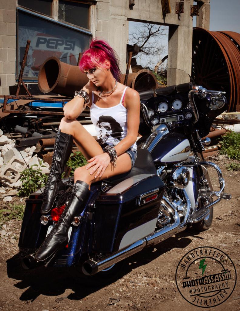 kayla on motorcycle